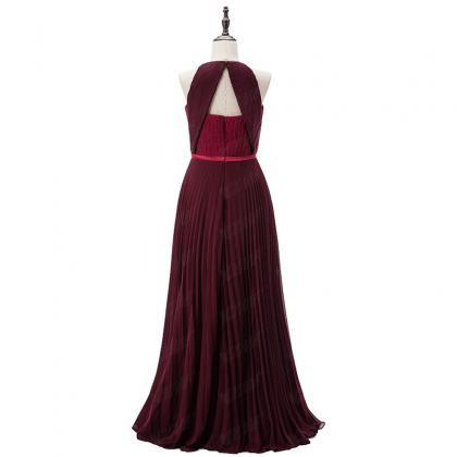 Burgundy Long Celebrity Dresses Red..