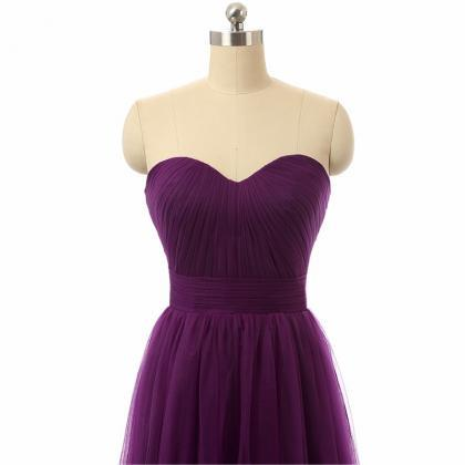 Cheap Long Tulle Bridesmaid Dresses..