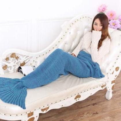Super Soft Hand-Crocheted Mermaid T..