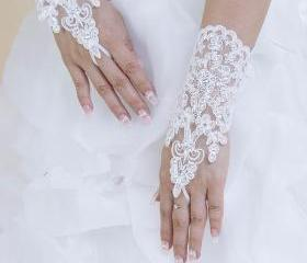 White Fingerless Wed..