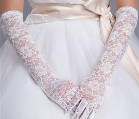 Lace Bridal Gloves E..