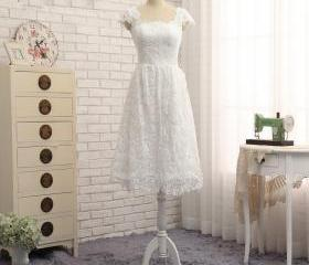White Short Wedding ..