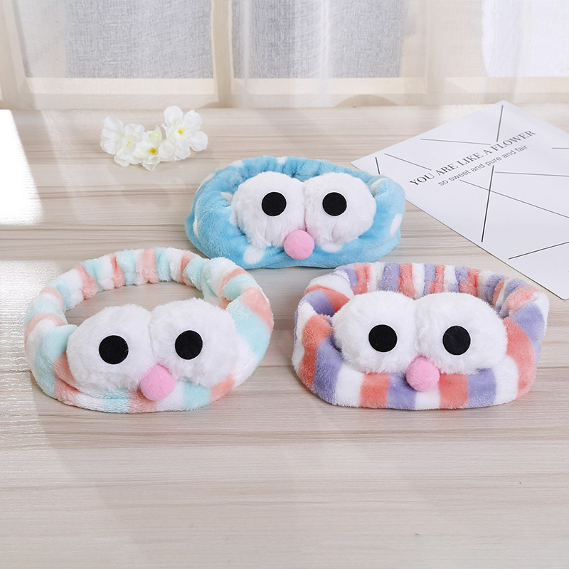 1 pcs Fashion Hair Accessories Korean Big Eyes Bath Headband Face Washing Hair Bands SPA Makeup Elastic Soft Headbands