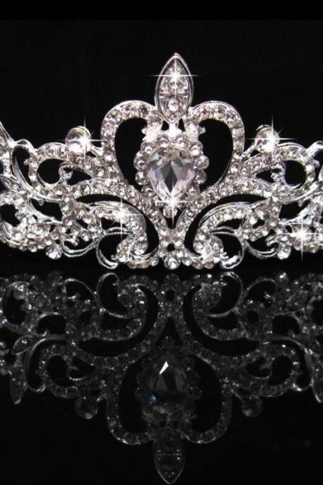 Bridal Wedding Hair Accessories Jewelry party handmade bride marriage crystal decoration Tiaras And Crowns rhinestone
