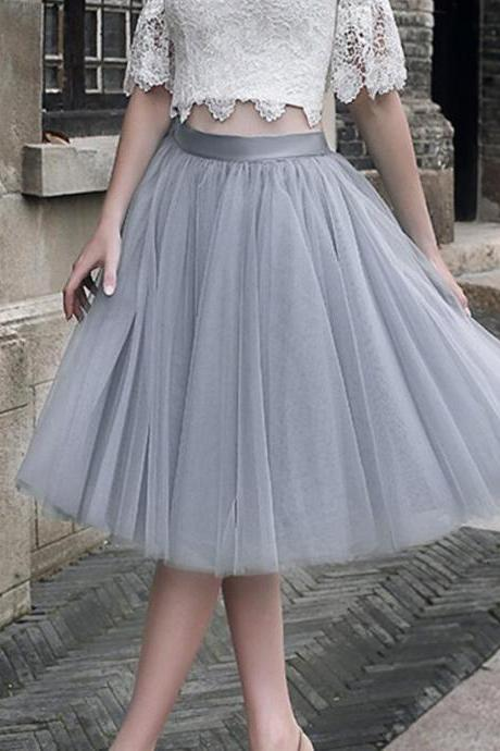 Custom Made Candy Color Tutus Skirt Dance Dresses 2017 Casual Soft Tutu Dress Summer Petticoat skirt Women Clothes