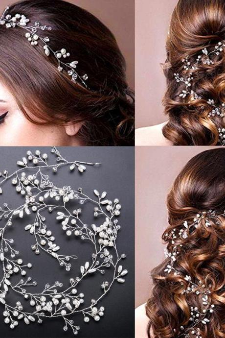Lengthen 1M bride handmade pearl hair accessories, wedding accessories ,bridal jewelry,Headpiece