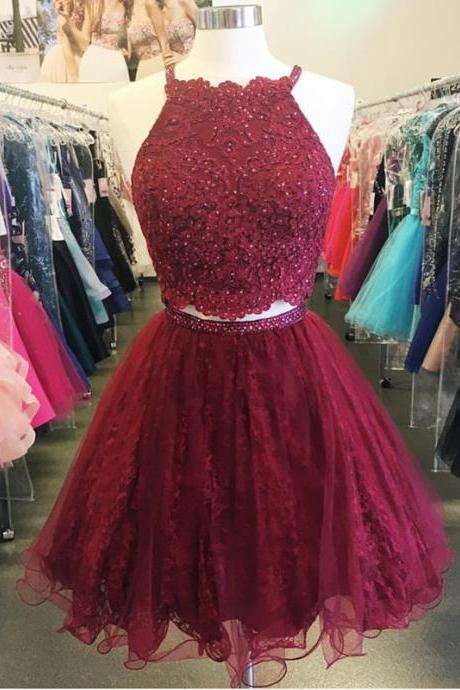 lace homecoming dress,short prom dresses 2017,homecoming dresses two piece,elegant cocktail dresses