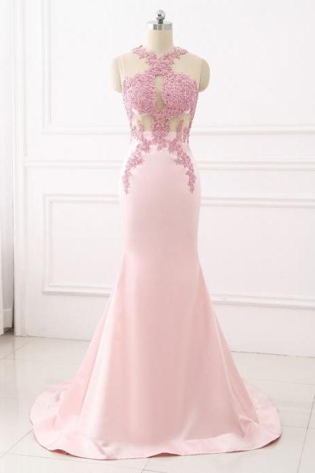 Sexy Mermaid Evening Dress Lace Appliques Women Formal Gown For Prom Wedding Party Dresses with Beaded Sequins