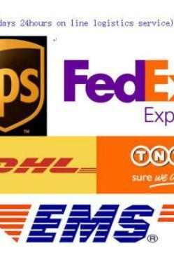 fast shipping fees by DHL FedEx EMS