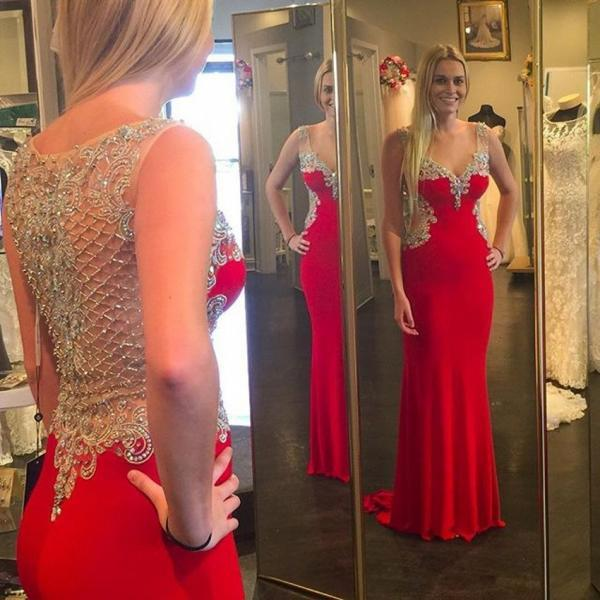 Prom Dresses,Prom Dress,Mermaid Prom Dresses,Chiffon Prom Dresses,Long Prom Dress,Beaded Formal Gowns,Beaded Prom Dresses