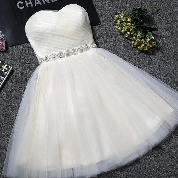 2021 Short Champagne Pink Party Dress Girls Fashion Homecoming Prom Gowns Graduation Dress